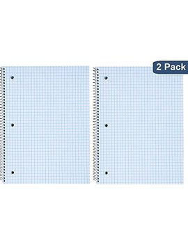 "1 In The Office Ruled Paper Graph Pad, Quadrille Spiral Notebook, 8""H X 10 1/2""W""2 Pack"" by 1 In The Office"