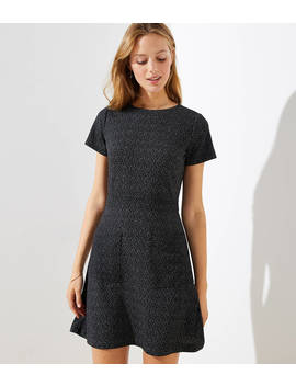 Flecked Pocket Flare Dress by Loft