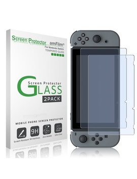 Nintendo Switch Screen Protector Glass (2 Pack), Am Film Nintendo Switch Tempered Glass Screen Protector For Nintendo Switch 2017 by Am Film