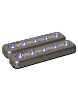 Amerelle 71187 Cc Led 7 Inch Task Bar, Silver, 2 Pack by Amerelle