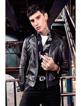 Faux Leather Biker Jacket by Boohoo Man
