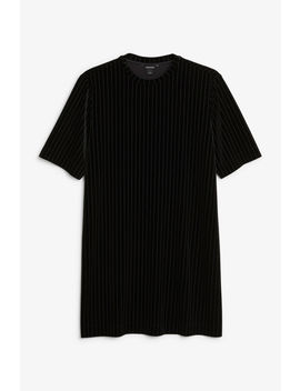 Velvet T Shirt Dress by Monki
