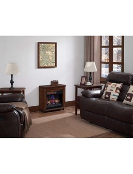 Chimney Free Rolling Mantel, Infrared Quartz Electric Fireplace Space Heater by Chimney Free