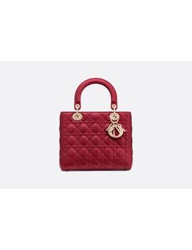 Lady Dior Tas Van Rood Lamsleer by Dior