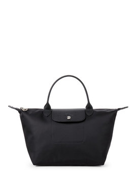 Black Neo Le Pliage Small Satchel by Longchamp