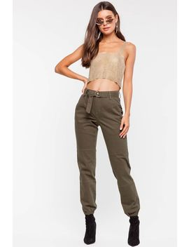 Jane Belted Cargo Pant by A'gaci