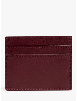 Madewell Leather Card Case, Dark Cabernet by Madewell