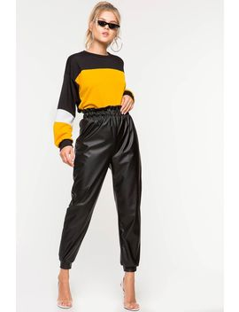 Paperbag Leatherette Pant by A'gaci