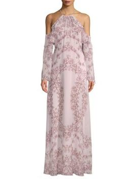 Cold Shoulder Floral Gown by Bcbgmaxazria