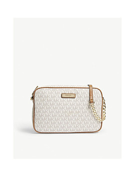 Logo Large Leather Cross Body Bag by Michael Michael Kors