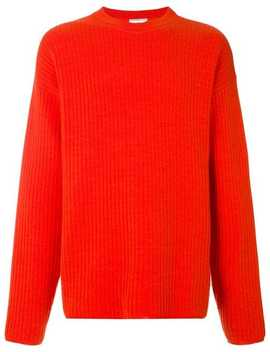 Crewneck Oversize Fit Double Face Rib Sweater by Ami Alexandre Mattiussi