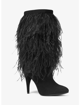 Asha Feather Embroidered Suede Boot by Michael Michael Kors