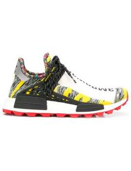 Yellow, Grey And Red X Pharrell Williams Afro Nmd Sneakers by Adidas By Pharrell Williams