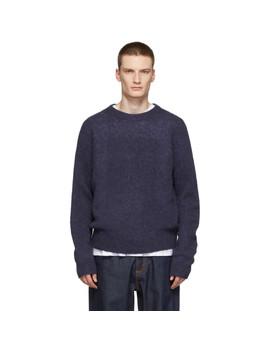 Purple Kai Crewneck Sweater by Acne Studios