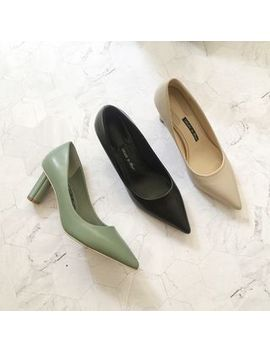 Mikogi   Faux Leather High Heel Pumps by Mikogi