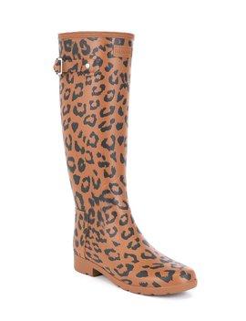 Refined Leopard Hybrid Rain Boot by Hunter