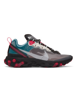 Blue & Red React Element 87 Sneakers by Nike