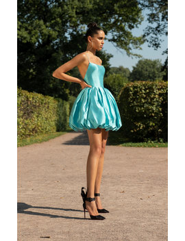 Mini Silk Bubble Dress by Rasario
