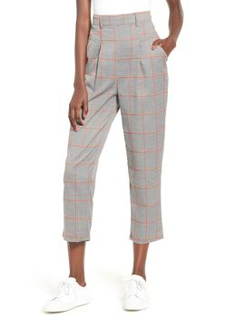 Academic Checked Crop Trousers by The Fifth Label