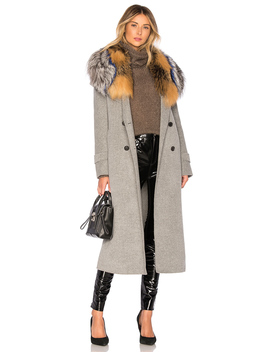 Blair Coat With Fur Collar by Mackage