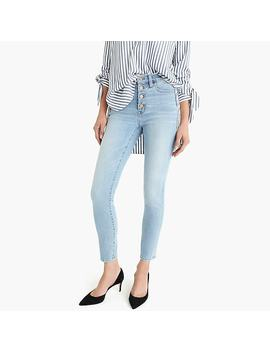 "Petite 9"" High Rise Toothpick Jean In Leddy Wash With Button Fly by J.Crew"