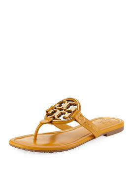 Miller Flat Metal Logo Slide Sandals by Tory Burch