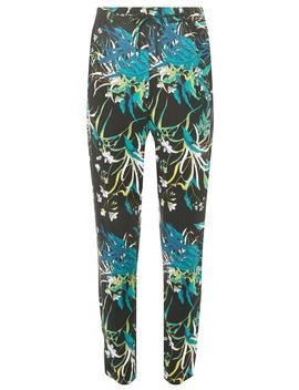 **Vero Moda Black Palm Print Slacks by Dorothy Perkins