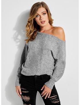 Audrey Pouf Sleeve Logo Sweater by Guess