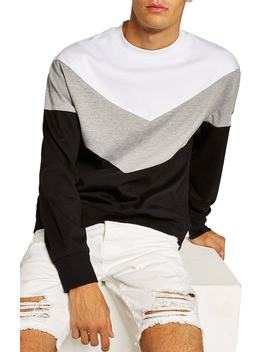 Chevron Colorblock Sweatshirt by Topman