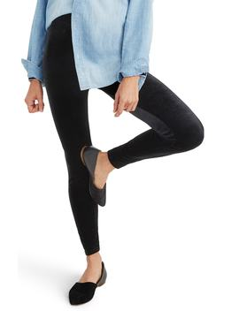 High Rise Velvet Leggings by Madewell