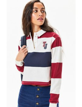 Tommy Jeans Cropped Rugby Polo T Shirt by Pacsun
