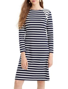 365 Stripe Knit Fit & Flare Dress by J.Crew