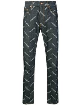 Logo Print Jeans by Love Moschino