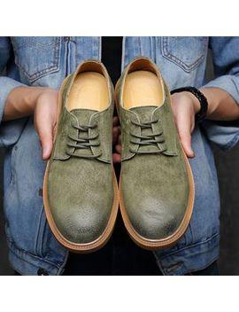 Zetta   Faux Suede Derby Shoes by Zetta