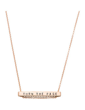 13 Characters Rose Gold Plated Horizontal Necklace by Littlesmith