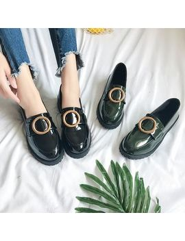 Qq Trend   Round Buckle Loafers by Qq Trend