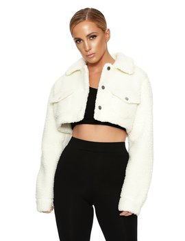 The Teddy Bear Cropped Jacket by Naked Wardrobe