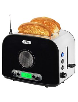 2 Slice Radio Toaster   Black by Elite Platinum