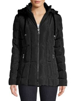 Quilted Faux Fur Lined Jacket by Calvin Klein
