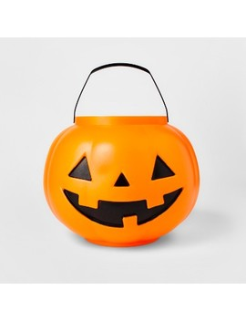Halloween Pumpkin Trick Or Treat Pail With Handle Orange   Hyde And Eek! Boutique™ by Halloween Pumpkin Trick Or Treat Pail With Handle Orange   Hyde And Eek! Boutique