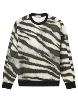 Stone Island Tiger Camo Sweat by Stone Island