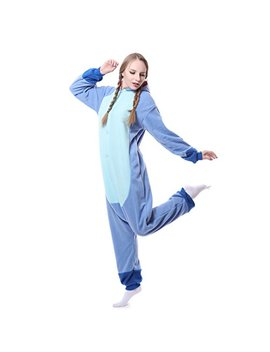 Unisex Adult Onesie Pajamas Kigurumi Stitch Animal Sleepwear For Halloween Party Costumes,Daily Cartoon Outfit by Bling Bling Dress
