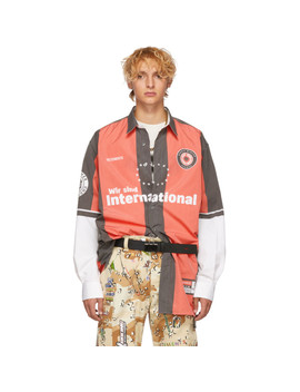Red & Grey Football Shirt by Vetements