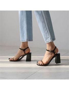Monobarbi   Ankle Strap Patent Kitten Heel Sandals by Monobarbi