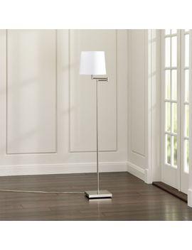 Adams Bronze Swing Arm Floor Lamp by Crate&Barrel