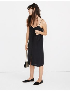 Silk Button Front Slip Dress by Madewell