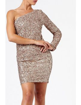 **One Shoulder Sequin Bodycon Dress By Club L London by Topshop
