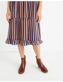 Striped Satin Midi Dress by Madewell