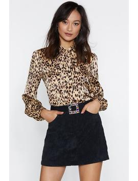 Jungle Boogie Satin Leopard Top by Nasty Gal