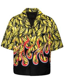 Banana And Flame Print Shirt by Prada